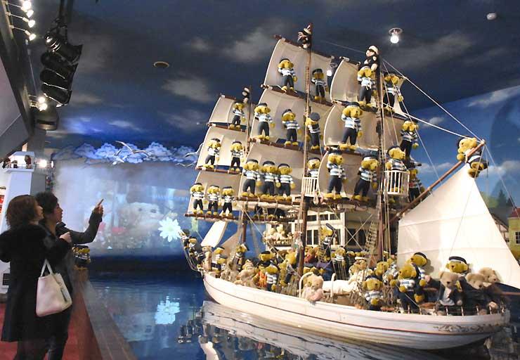 約1万1000体が展示されている蓼科テディベア美術館