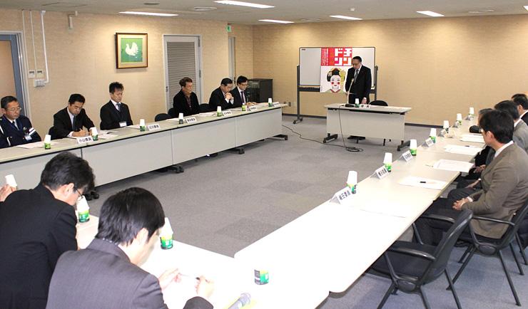4月の全日本チンドンコンクールの内容を決めた実行委員会=富山商工会議所ビル