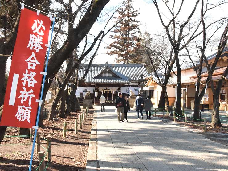 上田城跡公園内の真田神社。「必勝祈願」がテーマのツアーに組み込まれる予定だ