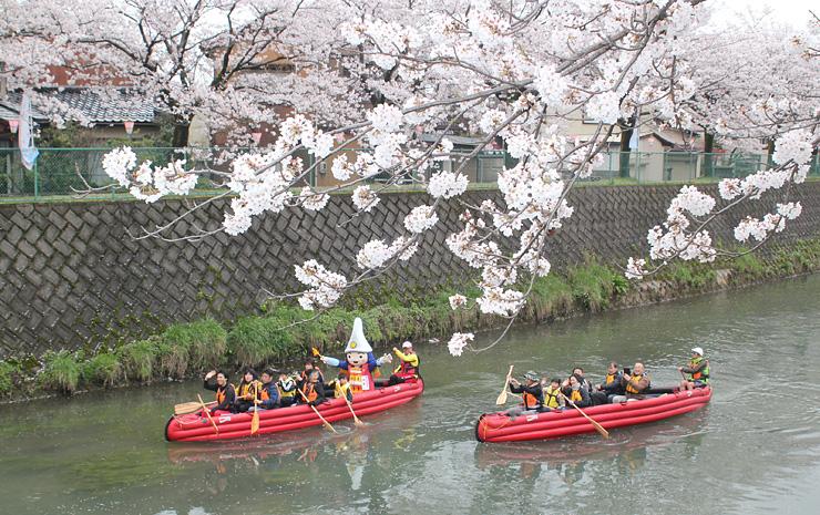 花見と舟下りを楽しんだ昨年の「千保川・さくら・クルーズ」