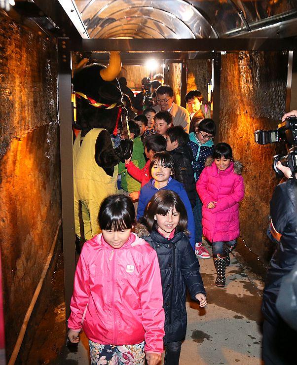 一般公開が再開された中山隧道=11日、長岡市山古志東竹沢
