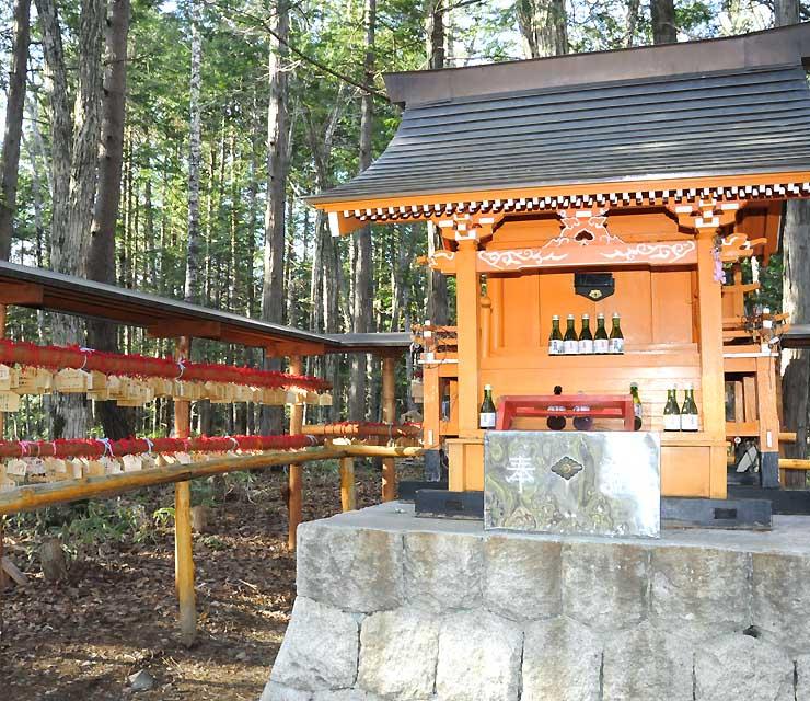 人気を集めるようになってきた木祖村の縁結神社。村観光協会はPRに力を入れる