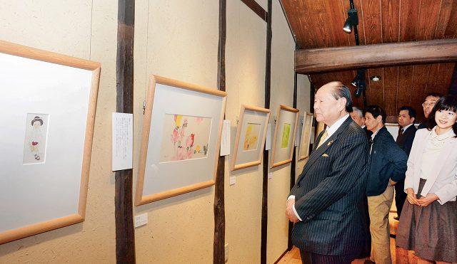 新設された展示室で始まった「窓ぎわのトットちゃん」特別企画展=21日、福井県越前市天王町の「ちひろの生まれた家」記念館