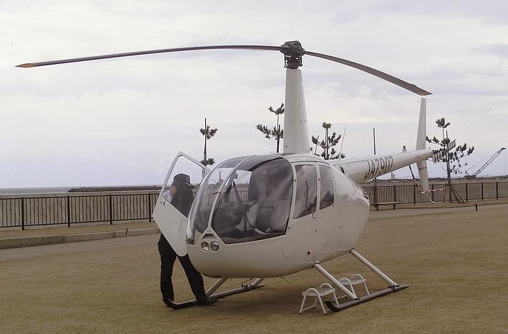 遊覧飛行で使用するヘリコプター