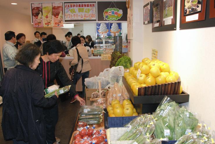ながの農協が長野駅前に出店した農産物直売所「旬彩工房Vivid」
