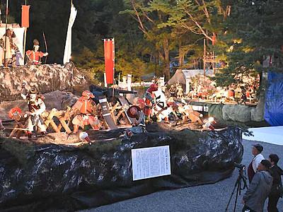 大坂夏の陣、人形絵巻で再現 安曇野・穂高神社で大飾物展