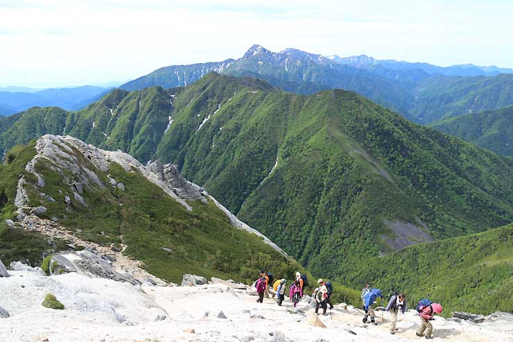 南アルプス駒ケ岳を目指した昨年の長衛祭の記念登山