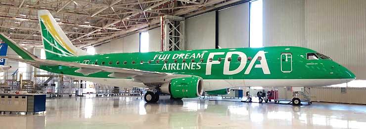 松本市の「観光大使」に、FDAの4号機に代わって任命される11号機(FDA提供)