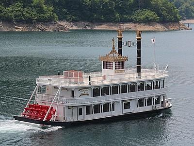奥只見 湖面から新緑満喫を 遊覧船運航始まる