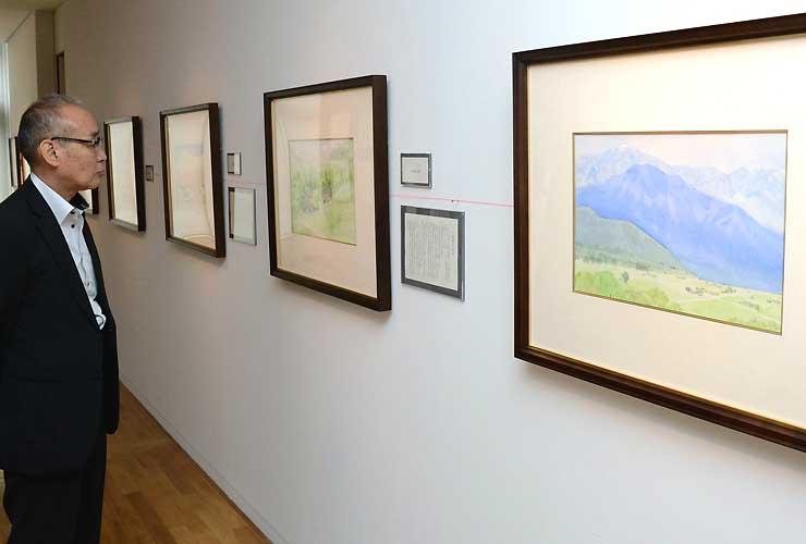 信州の風景などが描かれた安野光雅さんの作品展