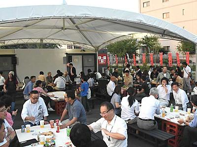 ビアガーデン、地域の味覚も 上田で7月オープンへ試験実施