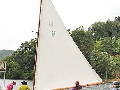 野尻湖の名ヨット、化粧直しで再出発 安全祈願の進水式