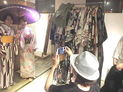 街歩きに着物貸します 塩尻の男性、松本城近くに7月開店