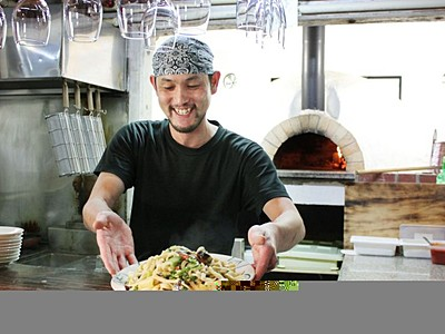 米粉と卵だけで開発 南魚沼産コシパスタに変身 健康面と味に自信 地元レストランが提供