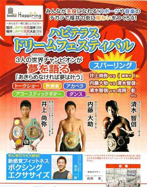 ボクシングのドリームフェスティバルのチラシ