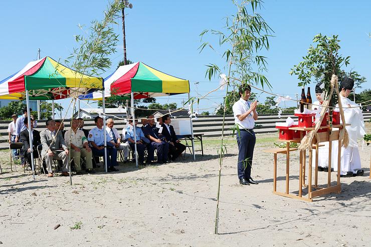 海水浴シーズンの安全を祈る浜開き祈願祭