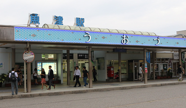 来年春から「せり込み蝶六」をアレンジした到着メロディーが流れるあいの風とやま鉄道魚津駅