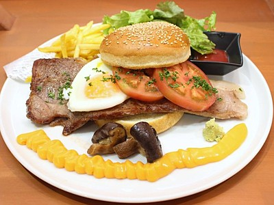 県産食材3000円バーガーに 新潟和牛など使用 南魚沼のカフェ
