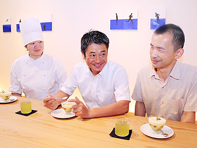 限定ゼリーで富山の食PR 来月の大山「リビング・アート」
