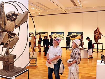詩情あふれる造形美 15日から高岡市美術館「村上炳人展」