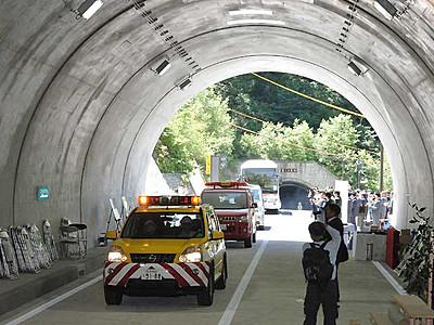 夏山への誘い588メートル 上高地トンネル開通