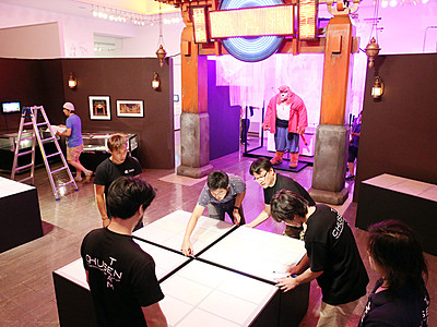 細田作品の世界再現 富山市民プラザで「バケモノの子展」23日開幕