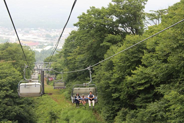 試乗会があった軽井沢プリンスホテルスキー場の夏山リフト