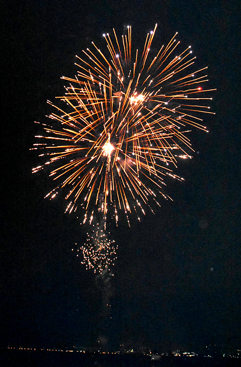 連日花火が打ち上げられるサマーナイトファイヤーフェスティバル