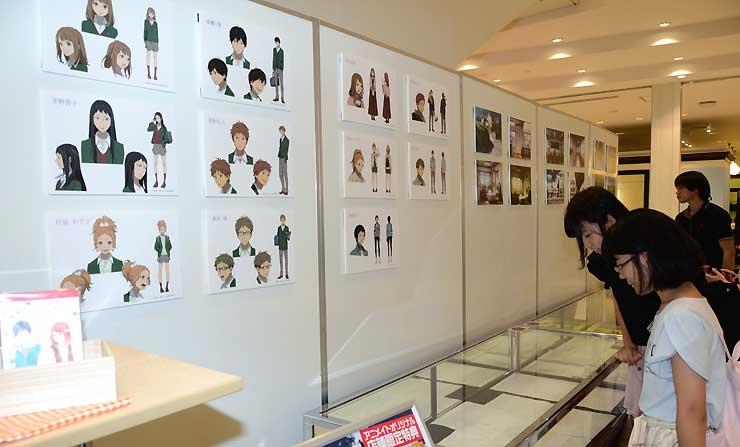 パルコ松本店で始まったアニメ「orange」の展示イベント