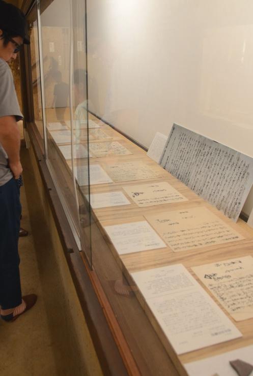真田昌幸の書状などを展示している茅野市神長官守矢史料館