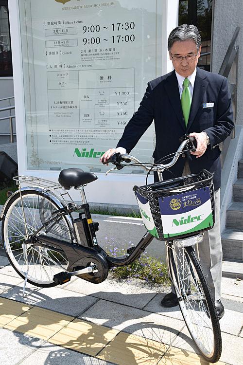 オルゴールの音色を聴きながら乗れる電動自転車