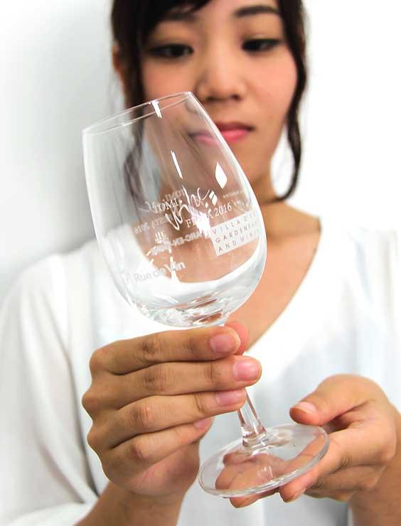 東御ワインフェスタで販売するワイングラス