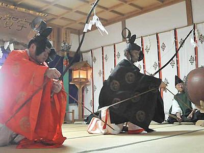 野尻湖に響く戸隠神社の神楽 宇賀神社式年祭始まる