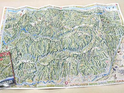 南ア鳥瞰絵図、本社から出版 絵地図作家の村松さんが描く