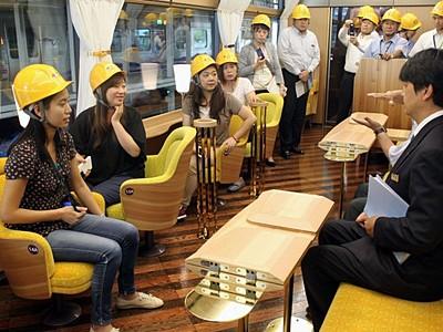 台湾の旅行会社 トキ鉄「雪月花」視察 上越市