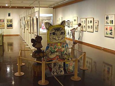 妖怪や動物、独特な世界 岡谷・イルフ童画館で企画展