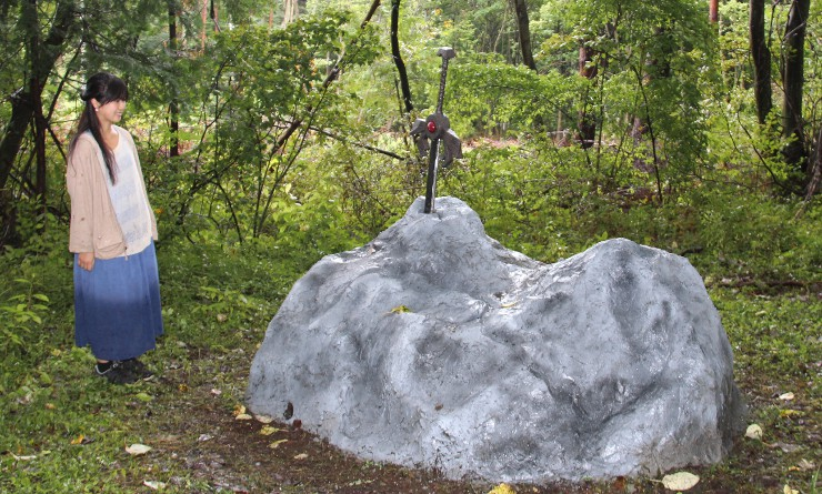 個性的な作品が展示された「森に戯ぶ」の会場