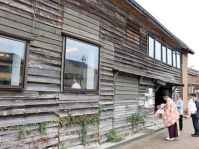「番屋カフェ」がオープン 新湊・内川沿い旧廻船問屋に