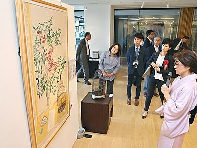 「天地人」「龍が哭く」挿絵・中村さん作品展 長岡で開幕