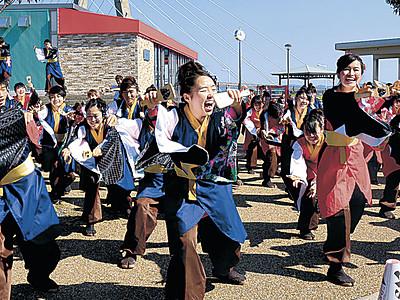 YOSAKOIソーラン日本海本祭 迫力の演舞、内灘熱く