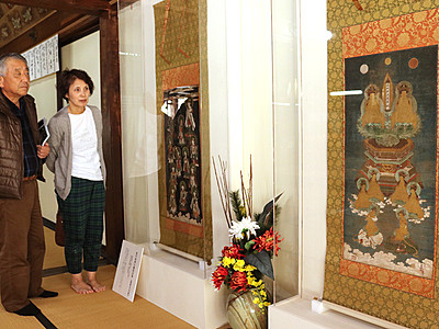 等伯の仏画 2点公開 荘厳な雰囲気 高岡・大法寺