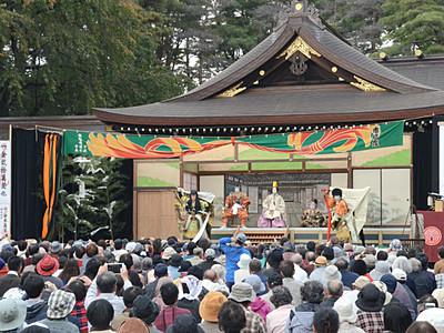 大鹿の千両役者、松本で初の歌舞伎公演