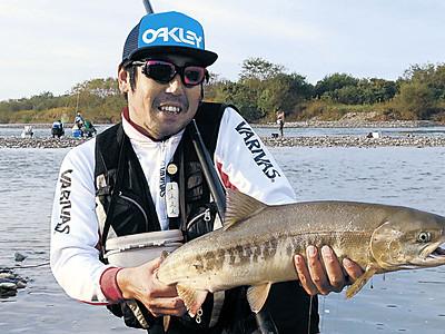 サケ釣り開放、手取川で開始 初日は136匹