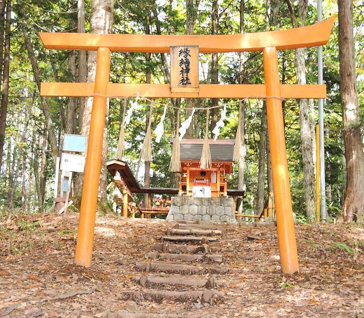 初めての「合同祈願祭」が開かれる縁結神社=木祖村