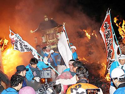 炎の参道駆け抜け 生地たいまつ祭り