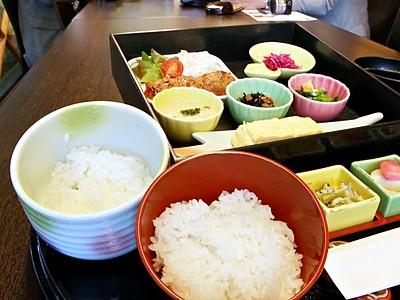 コシヒカリと新之助 お米食べ比べ定食が登場