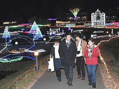 LED70万個で「光の森」 国営アルプスあづみの公園