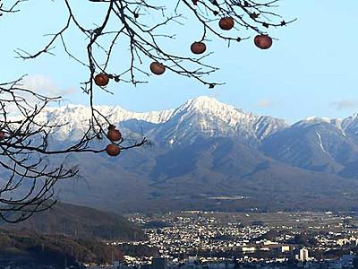 雪頂く八ケ岳連峰くっきりと 冬本番すぐそこまで
