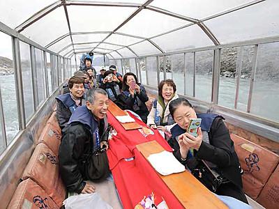 天竜川の冬の風物詩「こたつ舟」 飯田下伊那で運航