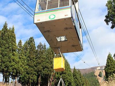 オープン間近、万全期して救出訓練 六日町八海山スキー場
